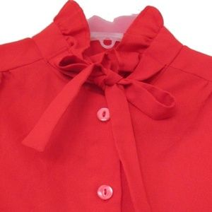 vintage plus size red bow top 12 14 1x